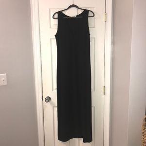 Boston Proper Black V-Neck Maxi Dress